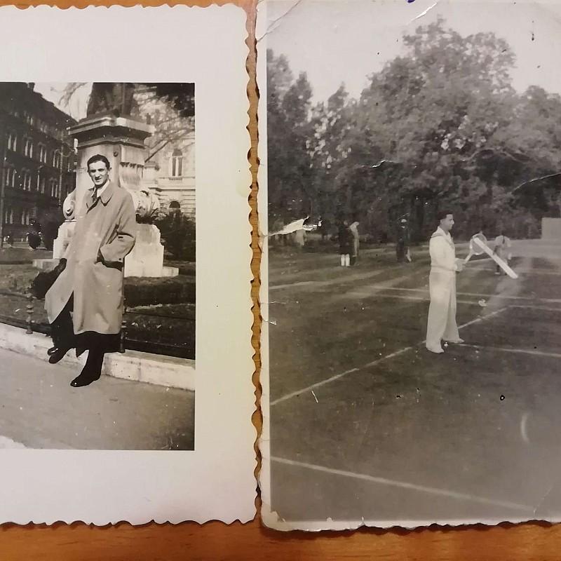 Fotó és naplórészlet